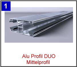 ab 18,12€//m DUO Verlegeprofil Alu Natur Randprofil komplett 60mm breit