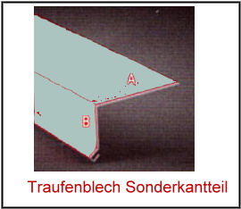 Aluminium Traufenblech Typ2-95° 25 µm Polyester Dicke 0,7 mm