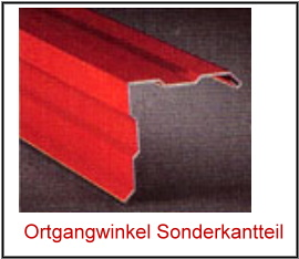 Stahl Ortgangwinkel Typ2-90° 25 µm Polyester Dicke 0,5 mm