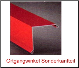 Stahl Ortgangwinkel Typ5-90° 25 µm Polyester Dicke 0,5 mm